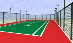 PVC Floor for Table Tennis Hammering Pattern